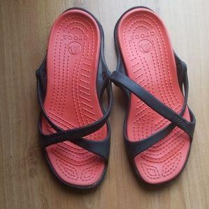 Crisscross Crocs Sandals